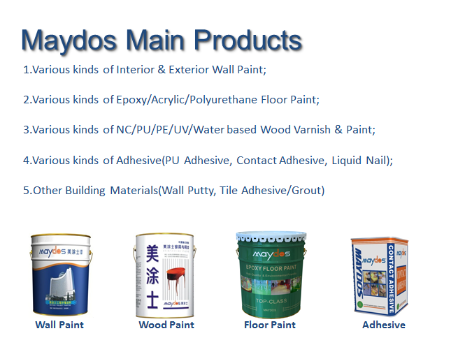 cheapest factory floor coating paint company names(China paint company/maydos paint )