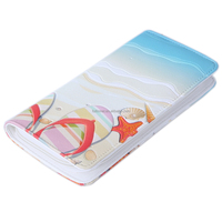 Guangzhou New Design Beach Shoes Printed PU Lady Wallet and Purses with zipper/Wholesale Fashion Gift