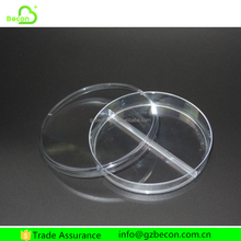 Medical Consumables Plastic Three Parts Petri Dish Container