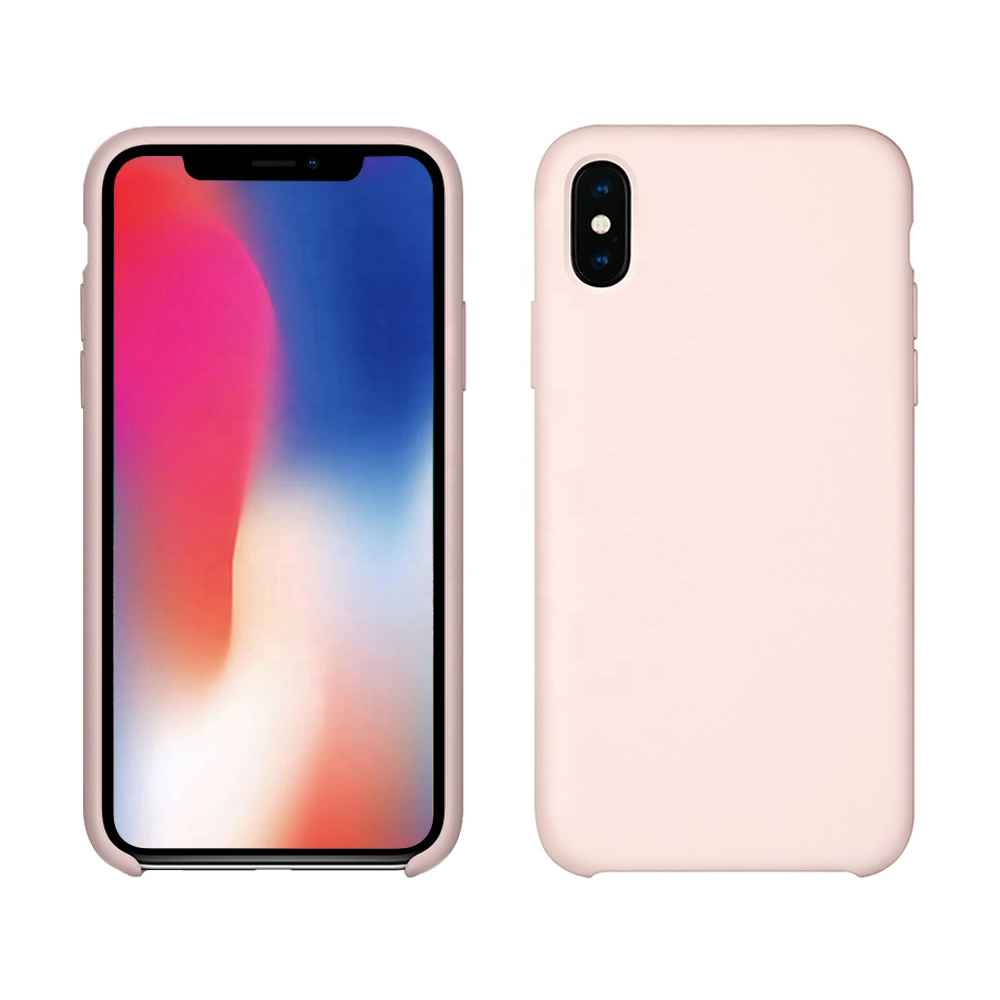 Liquid Silicone Phone Case With Soft <strong>Microfiber</strong> Cushion For iPhone X Xs Xr XS Max