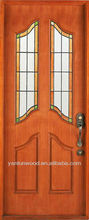 wrought iron glass inserted high quality solid wood / glass door