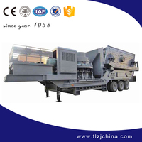 Professional mobile impact crushing plant with high efficiency