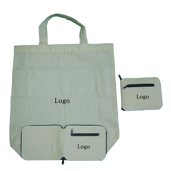 eco folding foldable fold up cotton canvas tote storage bags with zipper