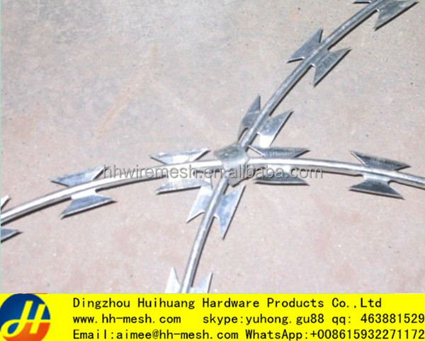 BTO 22 450MM razor barbed wire philippines /concertina wire fence