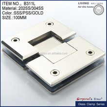 Frameless bathroom heavy duty glass sliding door hinge