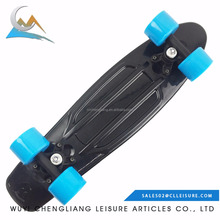 22*6inch small cruiser skate board with plastic truck and wheels