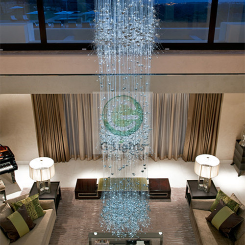 Hotel decorative LED Plastic fiber optic chandelier