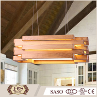 factory price dinning room decorative hanging rectangle pendant light