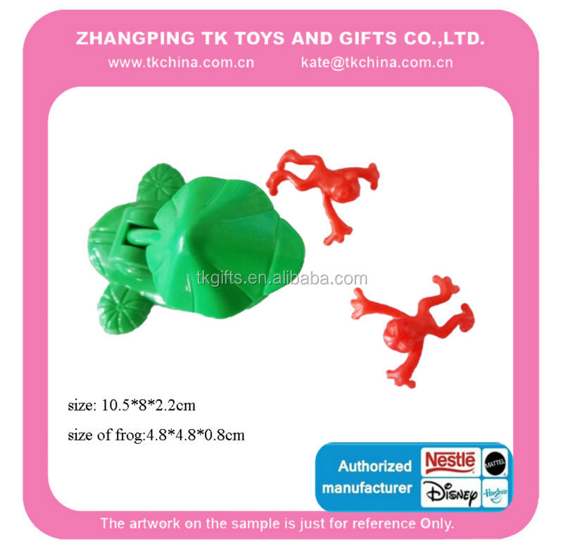 2015 hot sale cute Plastic and TPR frog toys