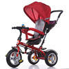Baby tricycle with basket and handle bar/tricycle child velocipede/three big wheels kid trike