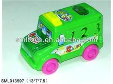 Pull string light candy cartoon car toy candy car toy candy toy car