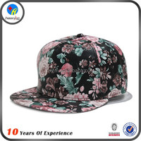 custom floral 5 panel snapback blank hats wholesale
