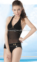 Padded Lady's Black Sexy One Piece Swimwear of Manufacturer