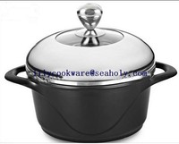 2016 New design Hot Sale Dessini Aluminum non-stick die-cast stock pot /casserole/sauce pot