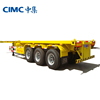 Myanmar Sale CIMC 3 Axles Flat Bed Container Transport 40ft Semi Trailer