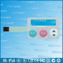 High quality waterproof PET membrane switch keypads with 3M920 adhesive