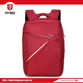 Factory direct China laptop usb red backpack