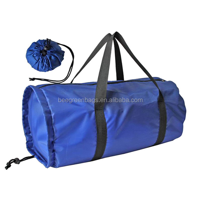 Custom polyester foldable travel bag with logo printing