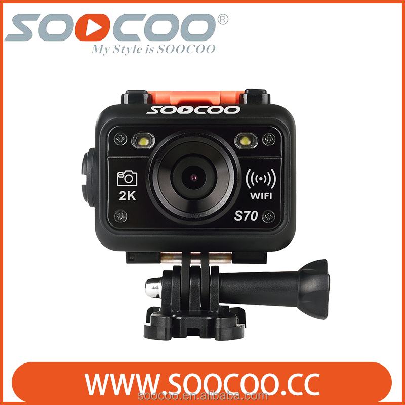 SOOCOO S70 2K 30FPS Waterproof Sports Camera with Watch Remote Control(Add 1 Battery)