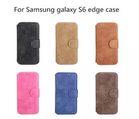 For best Samsung Galaxy S6 edge PU leather wallet case for G9250 accessories high quality luxury offical style China factory