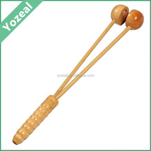 Natural personal wooden long handle back massager