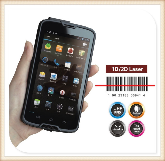 android handheld terminal with printer C5 S Handheld HF 13.56 Mifare RFID reader with bluetooth wifi gprs c5s