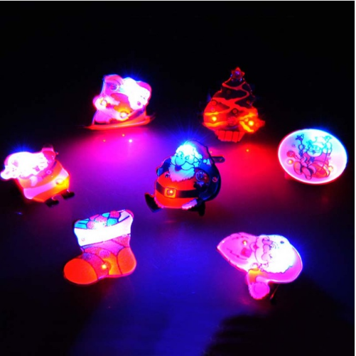 Lighting Flashing Light Up LED Jelly Brooch Badge Toy For Kids Girls Party Supplies Christmas Decorations For Home