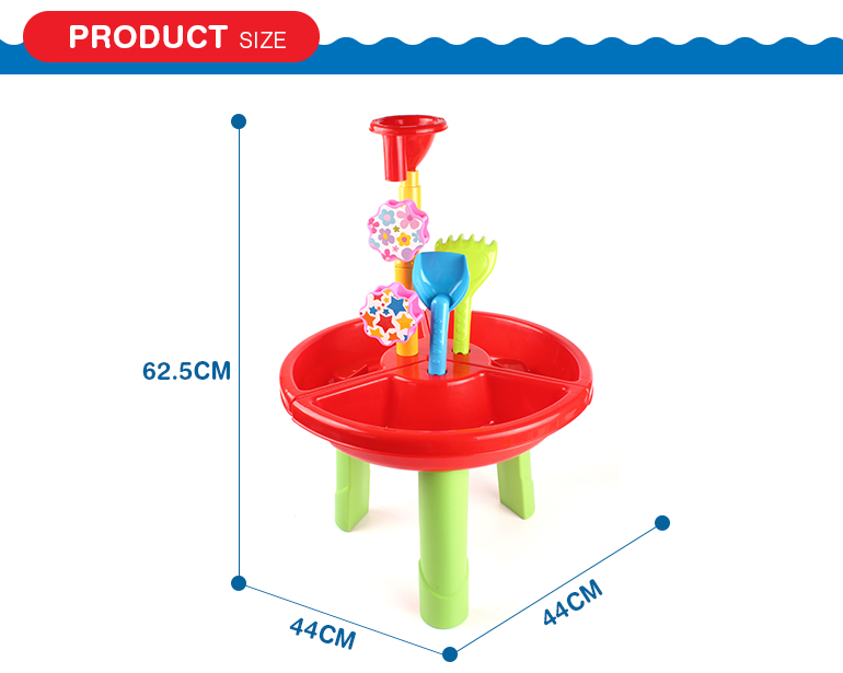 Assembly kids sand beach table toys summer games with three legs