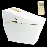 combination toilet bidet Automatic Operation Elongated White