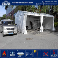 Heavy duty promotional waterproof, flame redartant, UV-resistant fairly used marquee tent family sedan car ferrari carport tent