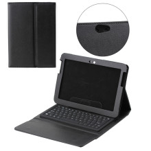 Business bluetooth keyboard leather case for Samsung Note N8000 with stand