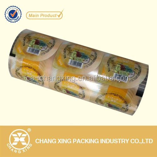 Plastic sealing film plastic Pre-cut Lids for plastic yogurt cup