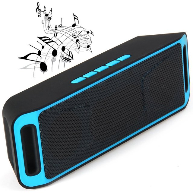 K812 Portable Bluetooth Speaker Stereo Speaker with Microphone FM Radio Support Handfree TF Card AUX Slot for Mobile Phones