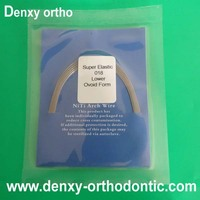 Dental supply round rectangular ovoid natural square form orthodontic niti wire