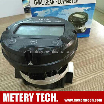 OGM gear electronic digital battery counting diesel fuel meter with reset zero and totalizing function