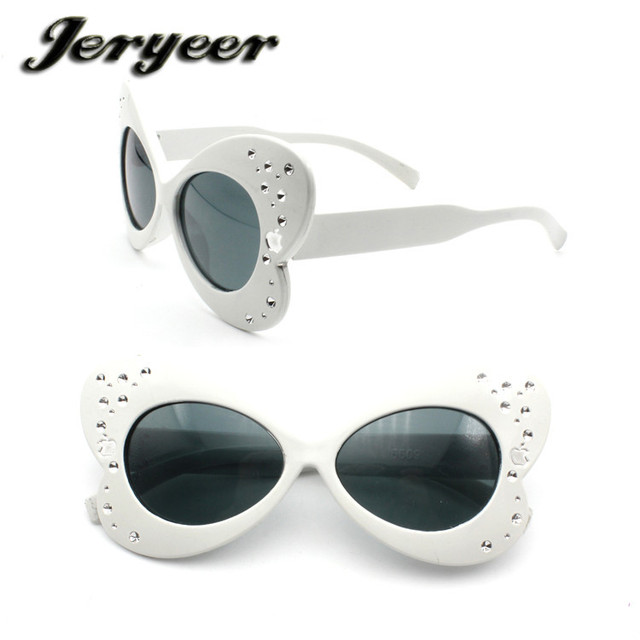 Yiwu Plastic Wholesale Cheap Eyeglasses White Butterfly Frame Kids Sunglasses Wholesale
