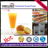 50 Times Concentrate Orange Syrup Juice Raw Material Beverage Ingredients