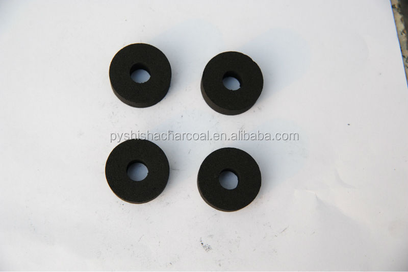 33mm shisha charcoal for hookah with a hole in the middle