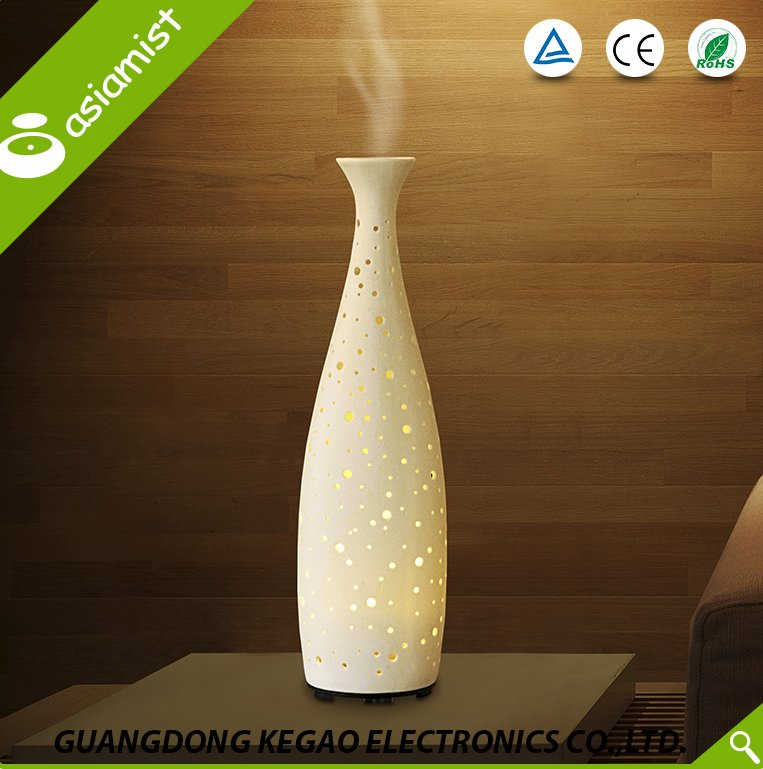 Asiamist wholesale ultrasonic ceramic air flower fragrance aroma oil diffuser
