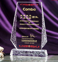 Souvenir Gift Trophy and Award Crystal Trophy Most Popular Customized Made Trophy And Awards