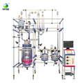 Laboratory Double Layer Floor Type Jacketed Glass Reactor