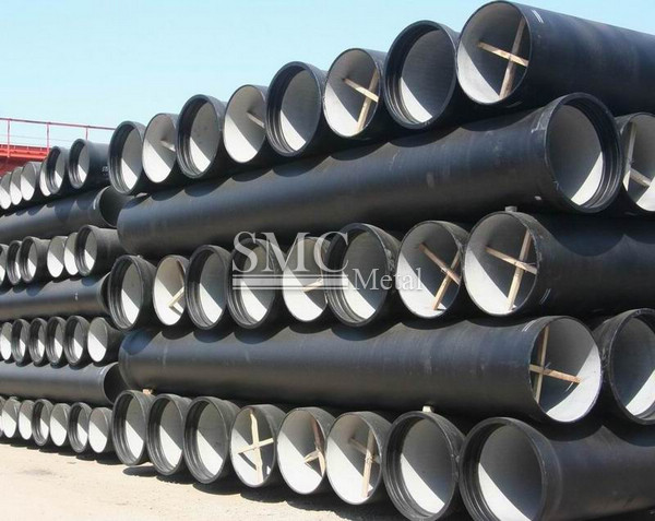 Cement lined ductile iron pipe.