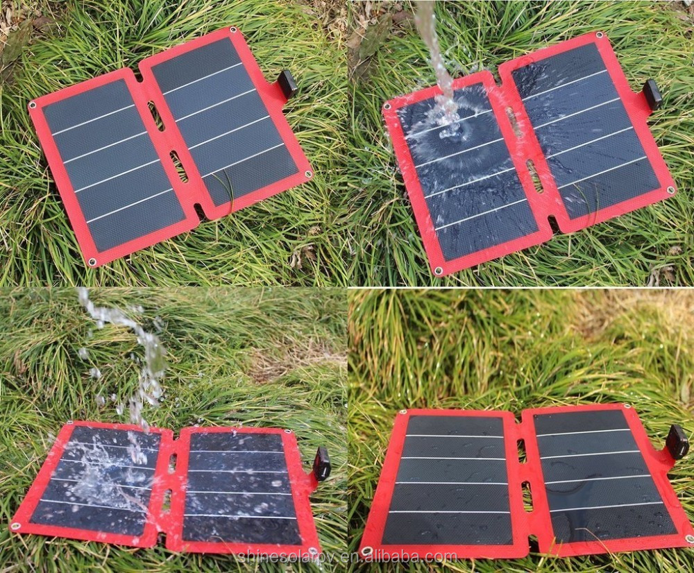 2017 SHINE Ultra-thin portable solar panel 5V solar charger for iPhone 7 folding solar panel
