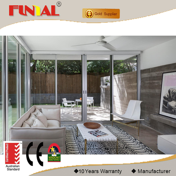 Luxury hurricane impact big glass sliding door /aluminum door manufacture price