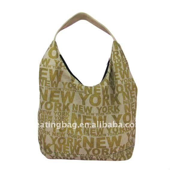 Fashion Reusable New York Jute Shopping Bag for Wholesale