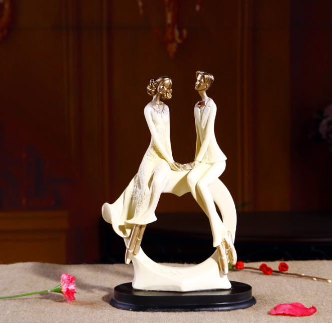 hot ! resin decorative love couple statue for wedding gift