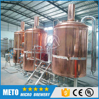 Red copper microbrewery equipment, red copper brewhouse, bright beer tank for sale