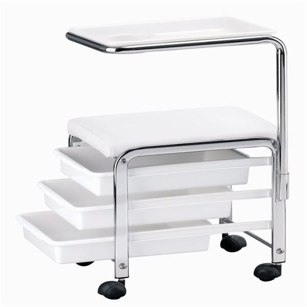 Pedicure and manicure nail salon spa trolley cart with drawer tray cart fashion