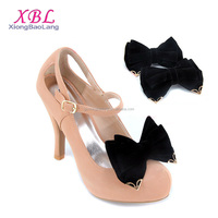 XBL Suede Fabric Black Shoe Clips