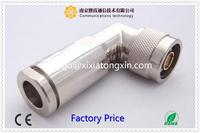 pin connector N male right angle crimp coaxial connector for LMR400 XiXia Communication